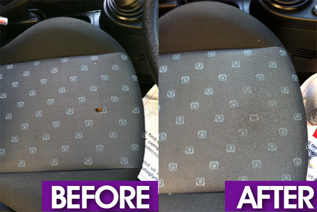 car seat ciggarete burn repair